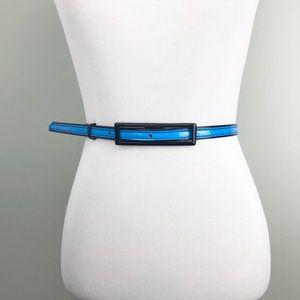 "Marc Marc Jacobs Electric Blue Skinny Belt 32-38"""